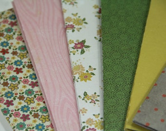 SET of 12 Handmade Pretty Paper Envelopes/Envelope Size A7/Patterned Envelopes/Mailing Supplies/Stationary