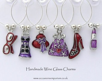 Girls Night Out Wine Glass Charms - Hen Night Gift