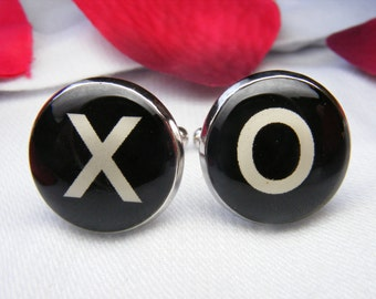Hug and Kiss Cufflinks - X and O Cufflinks - Mens Accessories - Valentines Day - Boyfriend Gift - Groom Cufflinks - Weddings
