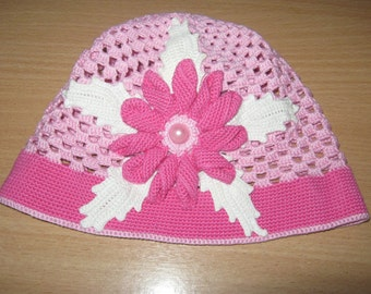 "Hat for girls ""Flower oleander"""
