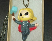 Thor Action Figure Necklace