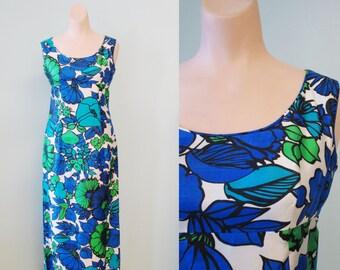 Vintage 1960's Anika Empire Maxi Dress Sz XS