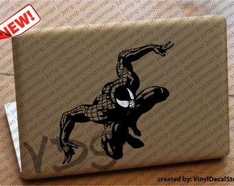 MAC MACBOOK Laptop Vinyl Decal Sticker Spiderman Jump
