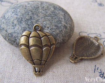 20 pcs of Antique Bronze Lovely Hot Air Balloon Charms 17x25mm A3483