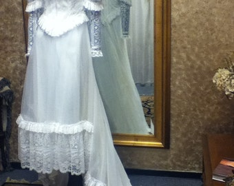 1960's or 1970's Vintage Wedding Gown