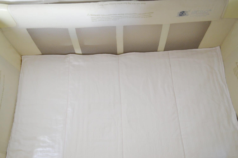 Arms Reach co sleeper / crib organic cotton mattress pad