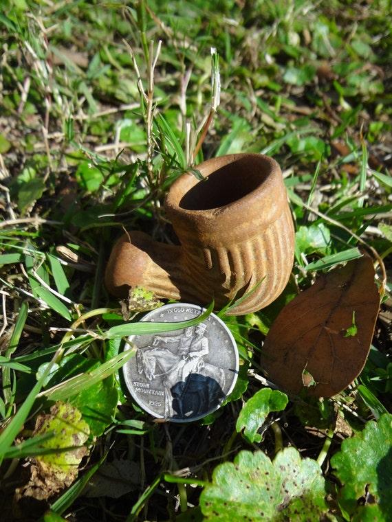 Civil War Era Clay Pipe Bowl - Excellent Condition - Victorian 1800s Authentic Antique