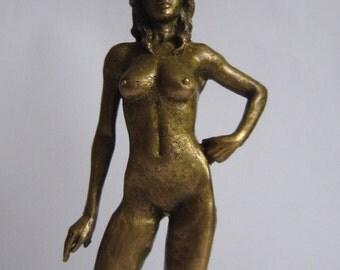 Bronze Figure Naked Girl Sculpture