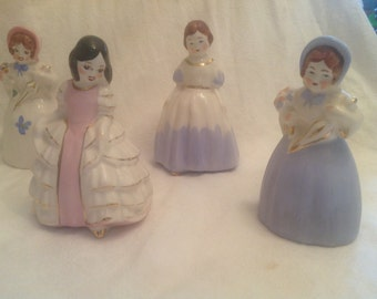 Charming Group of Little Girl Figurines