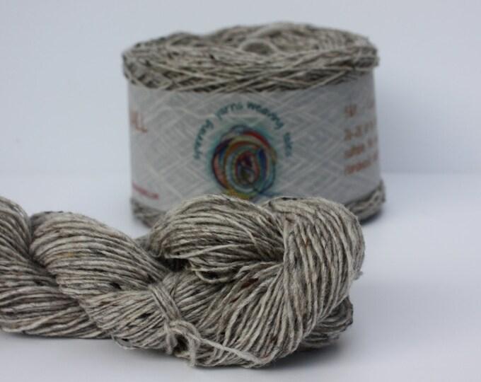 Spinning Yarns Weaving Tales - Tirchonaill 529 Silver Gray 100% Merino for Knitting, Crochet, Warp & Weft