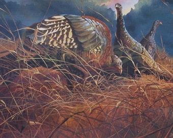 Wild Turkey Print  Home Decor   Cabin Decor   Lodge Decor