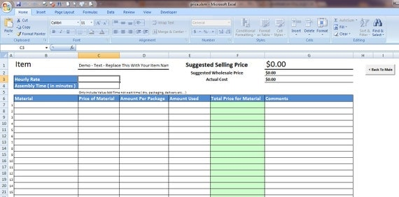 Items similar to Pricing Spreadsheet Plus Bonus Sales Tracker For Etsy ...