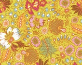 Little Folks Voile, Coloring Garden in Citrus - 1 Yard