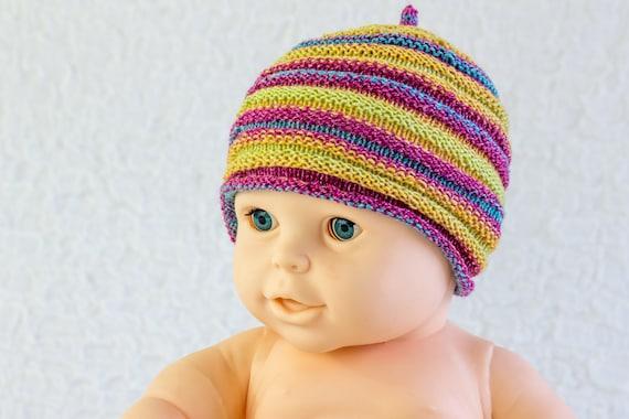Knitting Pattern For Baby Jester Hat : KNITTING PATTERN Baby Hat Baby Beanie PDF Baby Horizontal