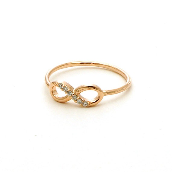 CZ Infinity Ring in Rose Gold / R046RG