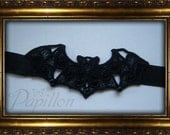"""Choker """"Bat"""" gothic, steampunk, wgt, burlesque, lolita, flower, victorian, vintage, cosplay"""