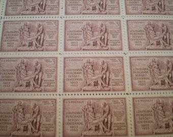 Louisiana Purchase Sesquicentennial Postage Stamps