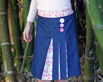 Origami pleated skirt pattern - PDF pattern