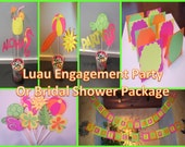 Complete Luau Engagement Party or Bridal Shower Package