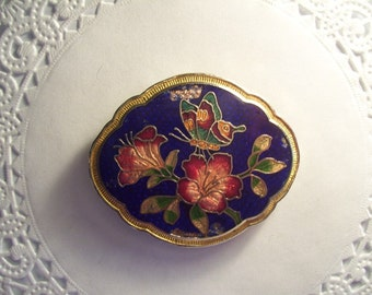 Vintage Jewelry Refrigerator Magnet (122) Butterfly and Flowers