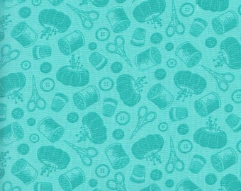 MAKOWER UK  754 T Sewing essentials Teal By the Yard