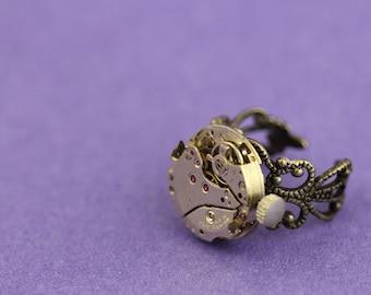 Steampunk vintage watch movement ring 5
