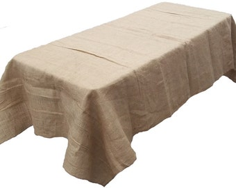 "70"" x 144"" Burlap Tablecloth"