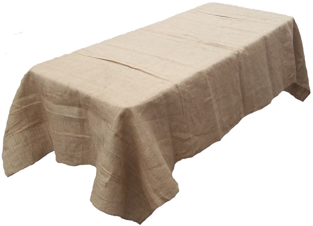 60 x 120 burlap tablecloth. Black Bedroom Furniture Sets. Home Design Ideas