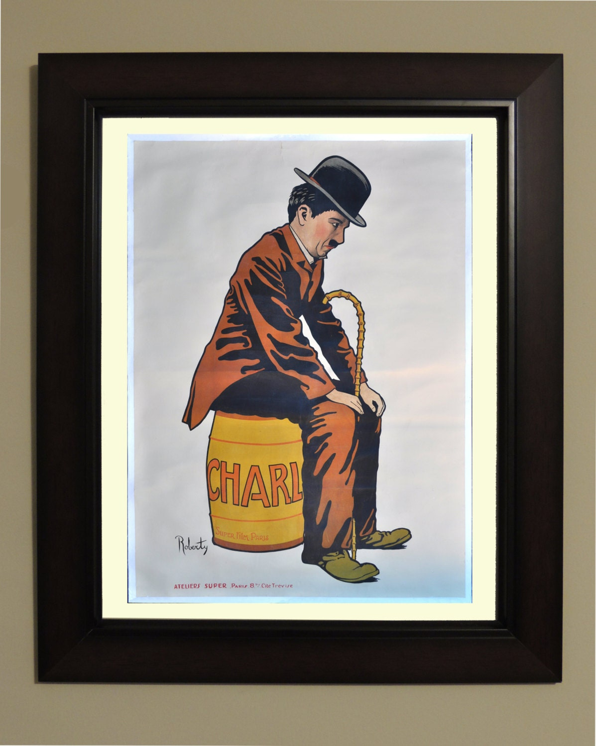 Charlie Chaplin Movie Poster 3 sizes available one low