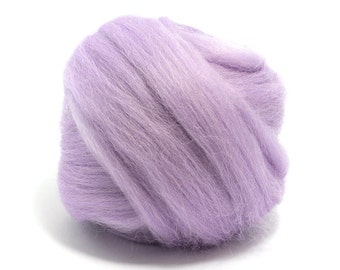 Lavender (pink/purple) - Blue Faced Leicester Wool Top - Roving - Needle/Wet/Nuno Felting - Spinning