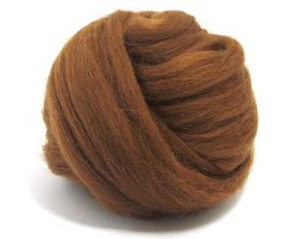 Chocolate (brown) - Shetland Wool Top - Roving - Needle/Wet/Nuno Felting Wool - Spinning