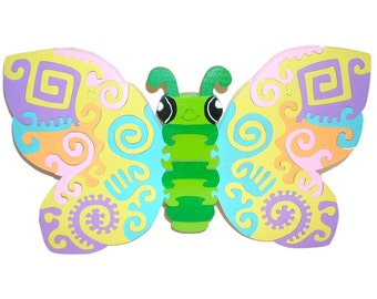 Whimsical Butterfly Childrens Wooden 3D Puzzle-
