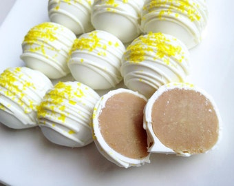 Lemon Cake Truffles - Lemon Cake Balls - Lemon Cake Bites