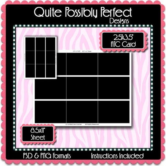 atc card template instant download psd and png formats temp90 digital bottlecap. Black Bedroom Furniture Sets. Home Design Ideas