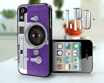 iPhone 4 4s Case - Vintage Camera Purple iP4