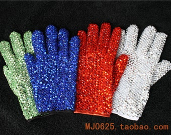 MJ Michael Jackson glove Private Collection ----both side---100% handmade