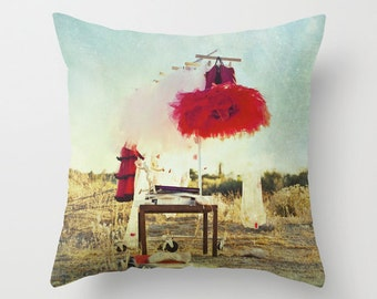 Red Tutu Pillow Cover, Ballet Photography, Home Decor, Photo Pillow, Throw Pillow, Fine Art Photography, 16x16, 18x18, 20x20