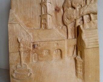 Portmeirion wood carving