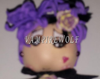FOFUCHA BROOCH PURPLE