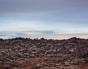 Rocky Landscape in Iceland.  Fine Art Photography
