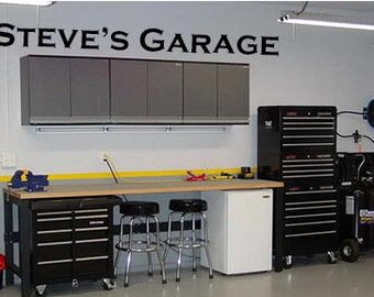 Garage wall decal | Etsy
