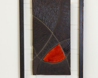 """Abstract picture, wall relief """"EARTH-V"""""""
