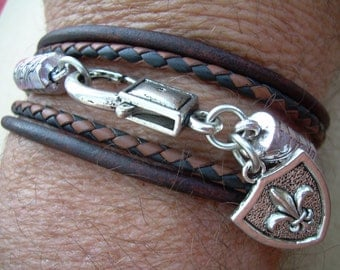 Leather  Bracelet, Triple Wrap, Mens Bracelet, Mens Jewelry, Mens, Womens Bracelet, Womens Jewelry, Mens Leather Bracelet, Leather Jewelry
