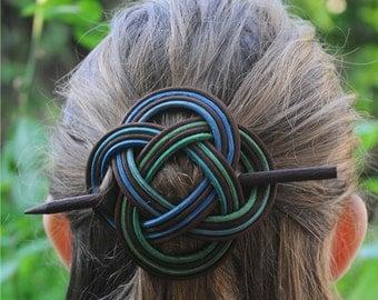 Hair stick, Celtic Symbol Sita,  Hair clip, Hair accessories, Hair pin, Hair brooch, Hair sticks, Gift for her ,Woven Hair Clip