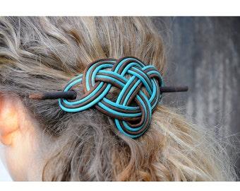 """Hair stick, Hair Clip, Celtic Symbol """"Triniti"""",Barrette, Hair accessories, Hair pin, Hair brooch"""