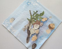 Seashells, Paper napkin for decoupage