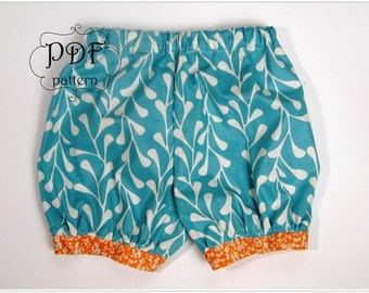 Bubble Shorts PDF Sewing Pattern Newborn through Girls 12