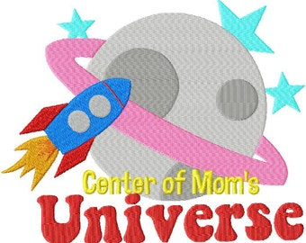 INSTANT DOWNLOAD Bonus Two Pack Center of Dads Universe and Center of Moms Universe Machine Embroidery Design