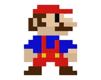 INSTANT DOWNLOAD Classic Mario Bros Machine Embroidery Design