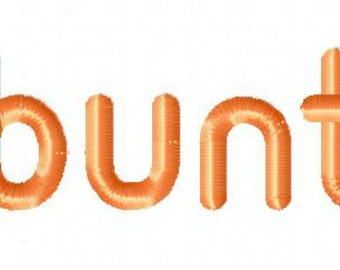 INSTANT DOWNLOAD Ubuntu Machine Embroidery Font Set Includes 3 Sizes